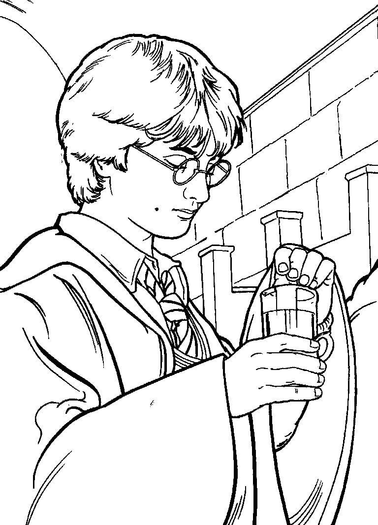 Desenhos de Harry Potter 2 para colorir