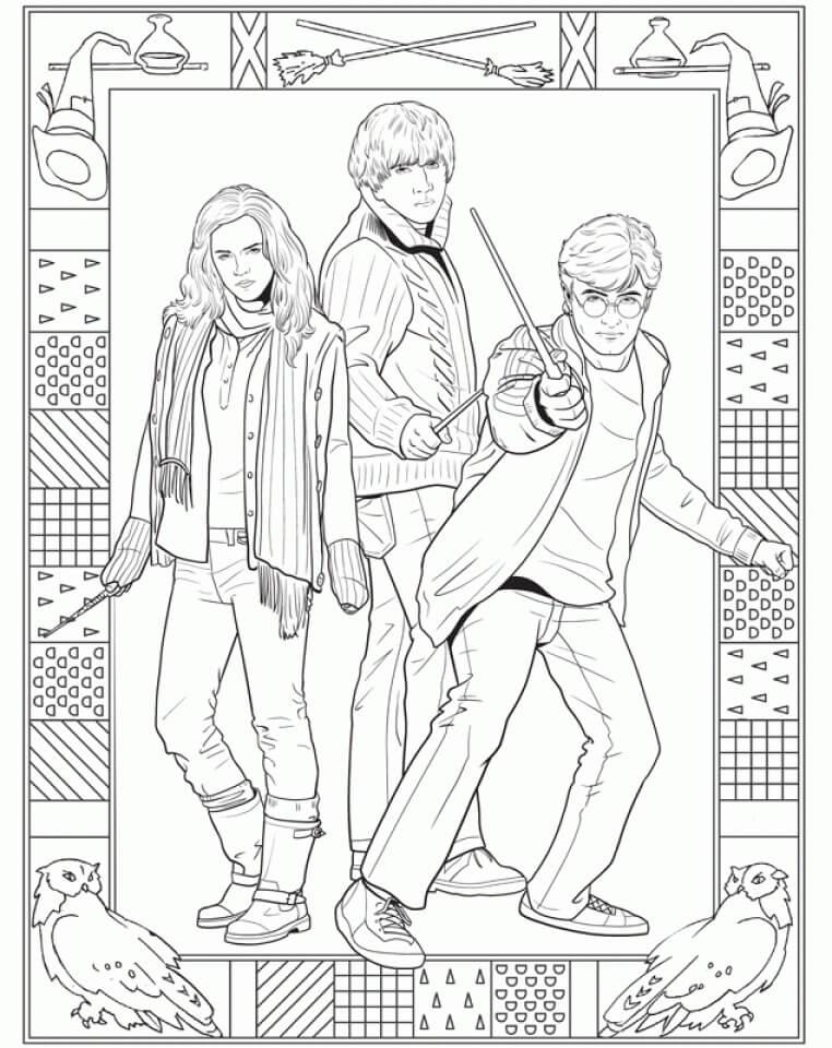 Desenhos de Harry Potter 3 para colorir