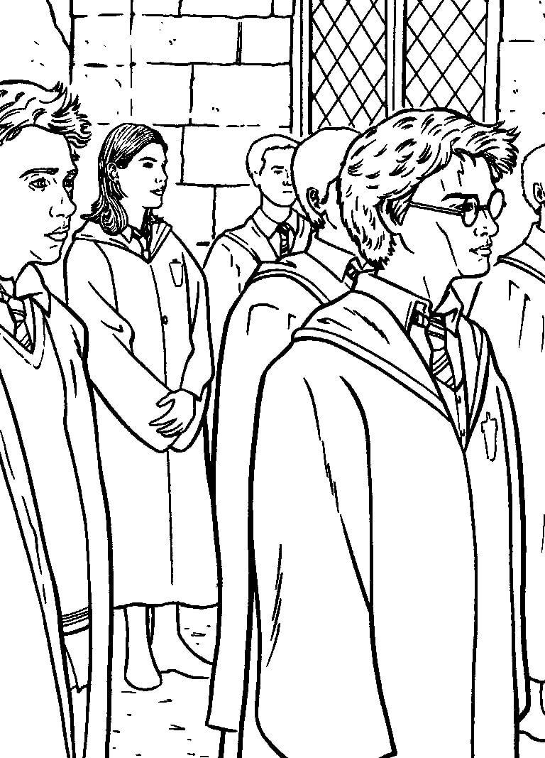 Desenhos de Harry Potter 5 para colorir