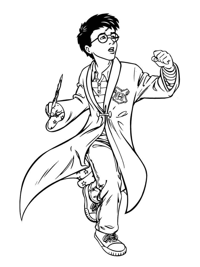 Desenhos de Harry Potter 9 para colorir