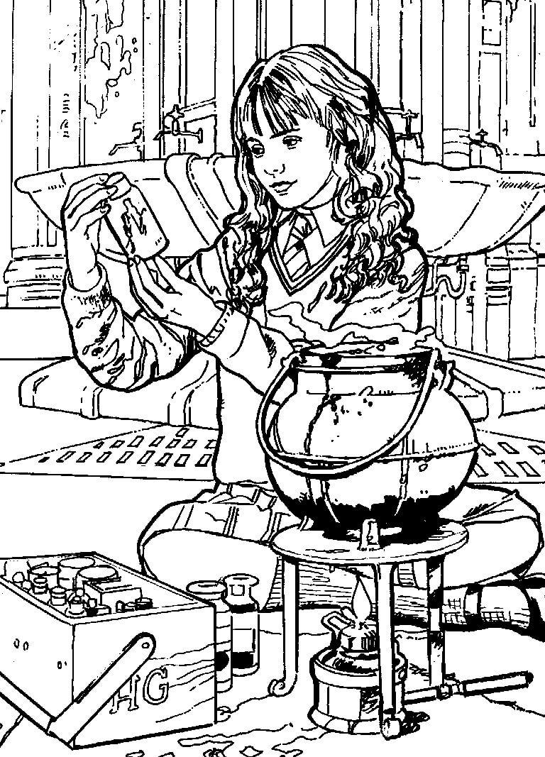 Desenhos de Hermione Granger 1 para colorir