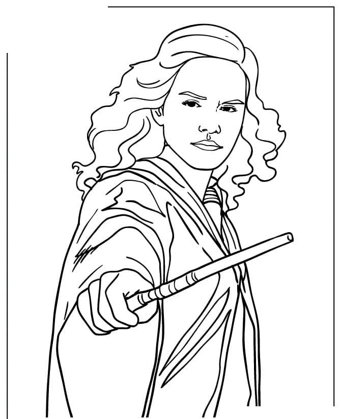 Desenhos de Hermione Granger 4 para colorir