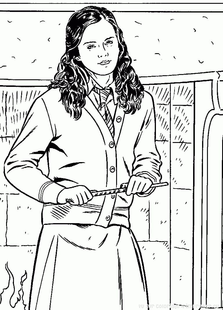 Desenhos de Hermione Granger 5 para colorir