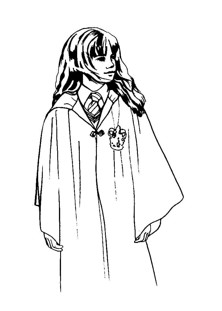 Desenhos de Hermione Granger 6 para colorir