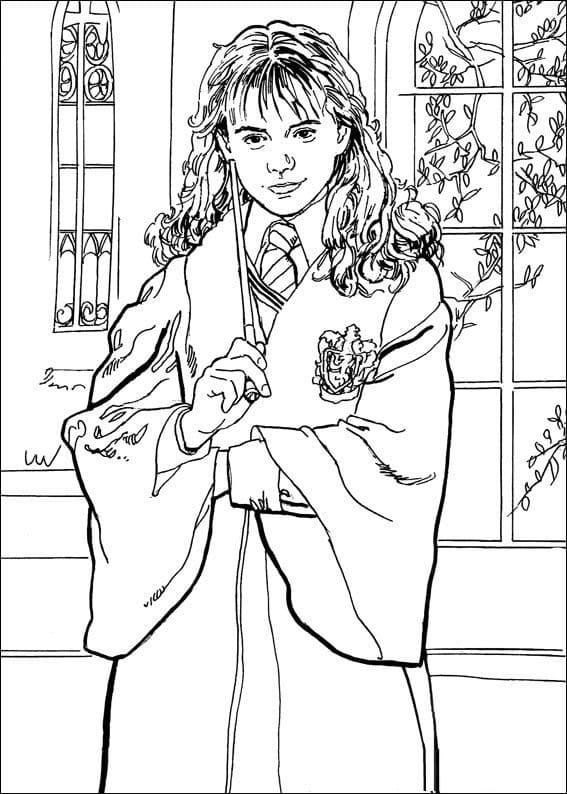 Desenhos de Hermione Granger 7 para colorir