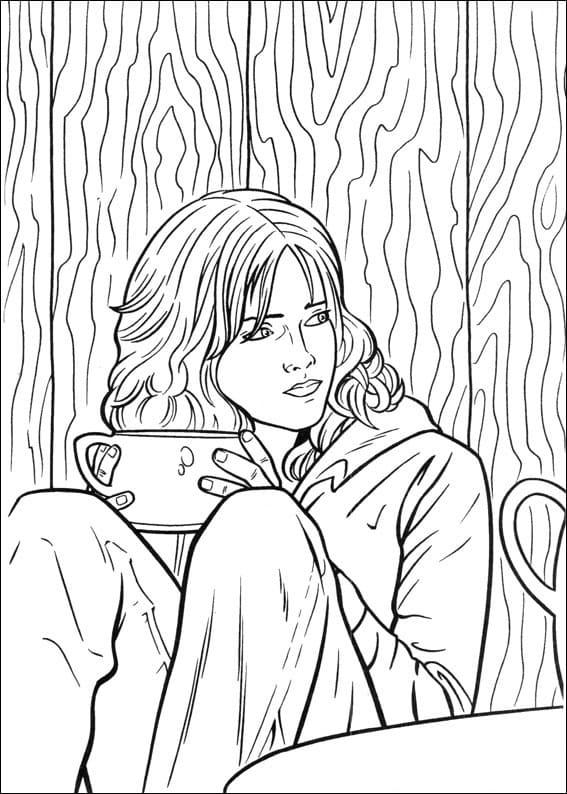 Desenhos de Hermione Granger 8 para colorir