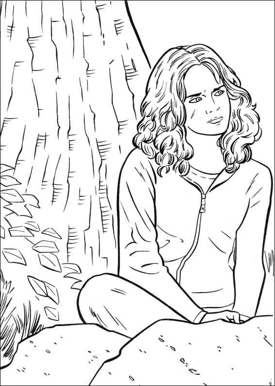 Desenhos de Hermione Granger 9 para colorir