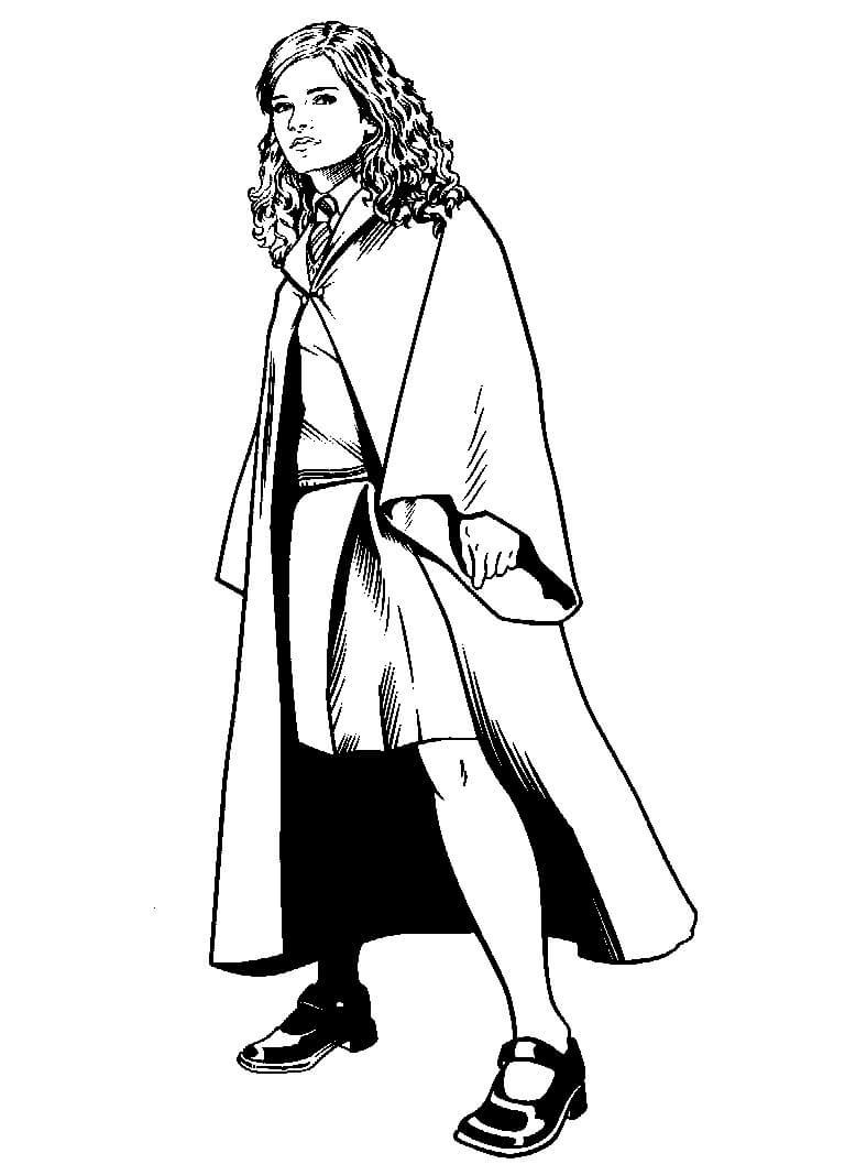 Desenhos de Hermione Granger para colorir