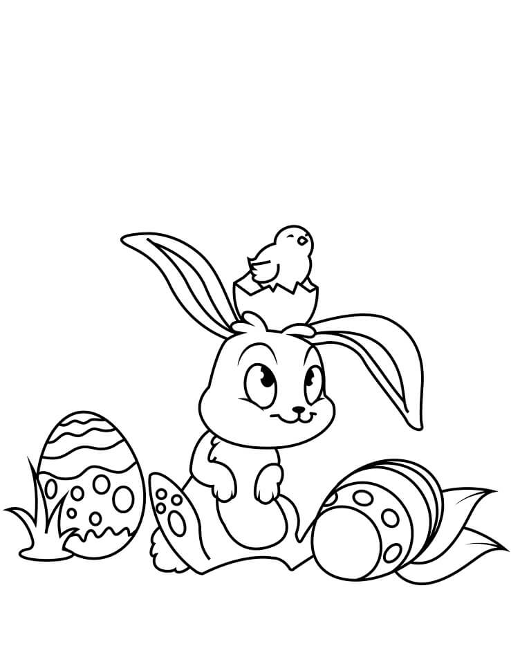 Desenhos de Lindo Coelho da Páscoa 1 para colorir