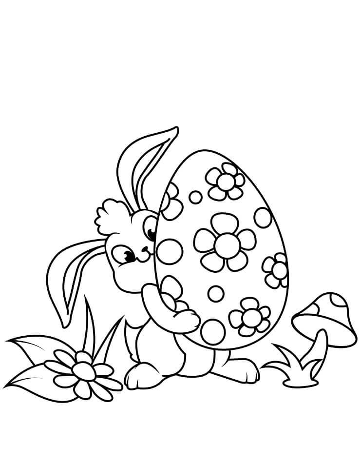 Desenhos de Lindo Coelho da Páscoa 3 para colorir
