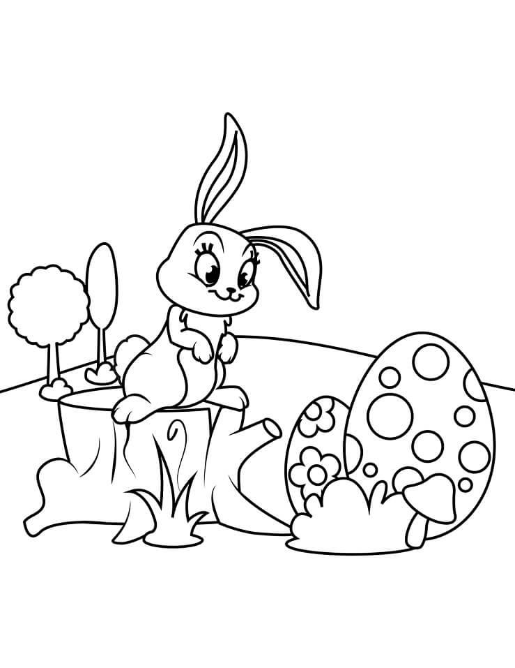 Desenhos de Lindo Coelho da Páscoa 5 para colorir