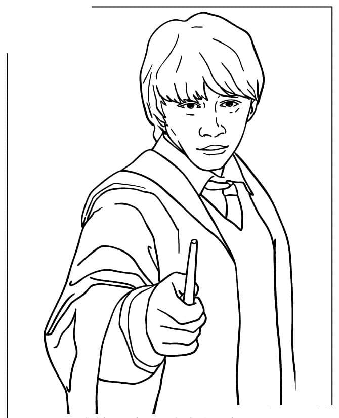 Desenhos de Ron Weasley 1 para colorir