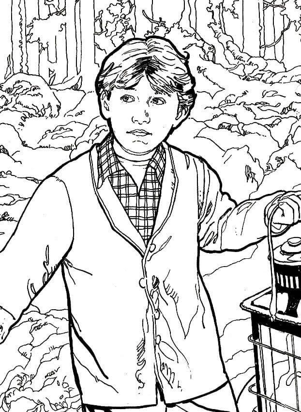 Desenhos de Ron Weasley 2 para colorir
