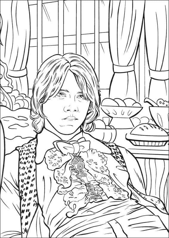 Desenhos de Ron Weasley 3 para colorir