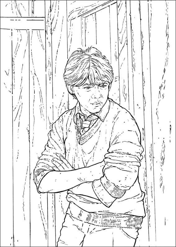 Desenhos de Ron Weasley 4 para colorir