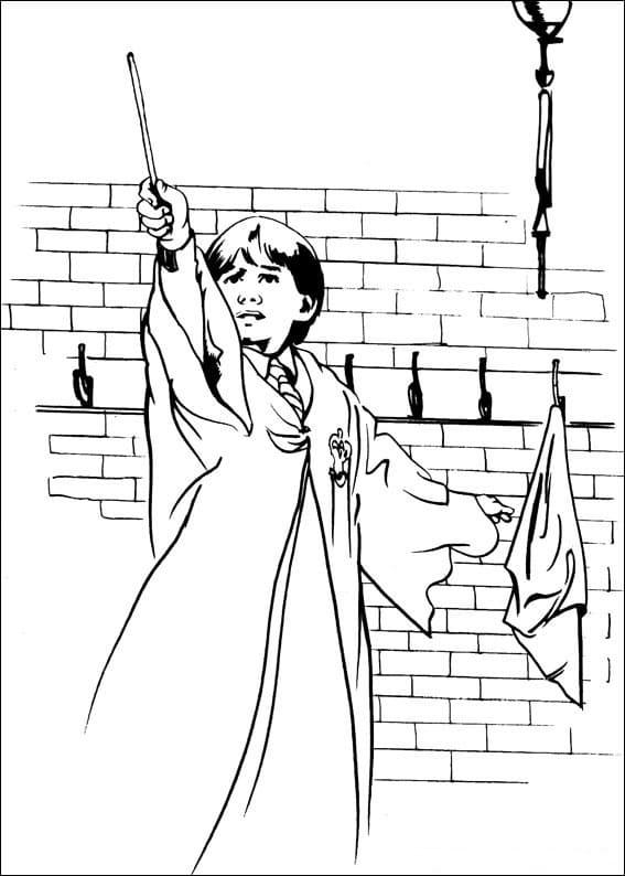 Desenhos de Ron Weasley 5 para colorir