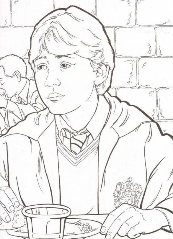 Desenhos de Ron Weasley 6 para colorir