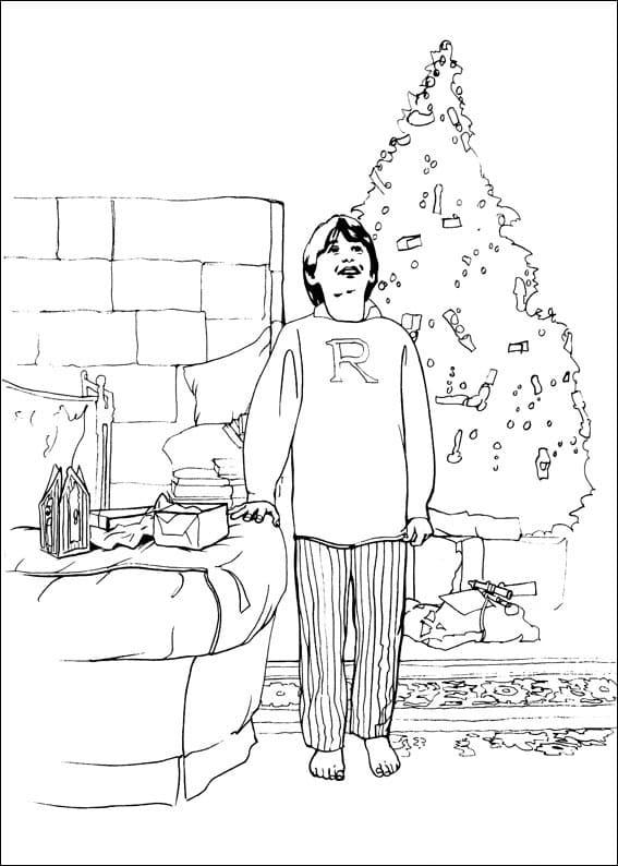 Desenhos de Ron Weasley 7 para colorir