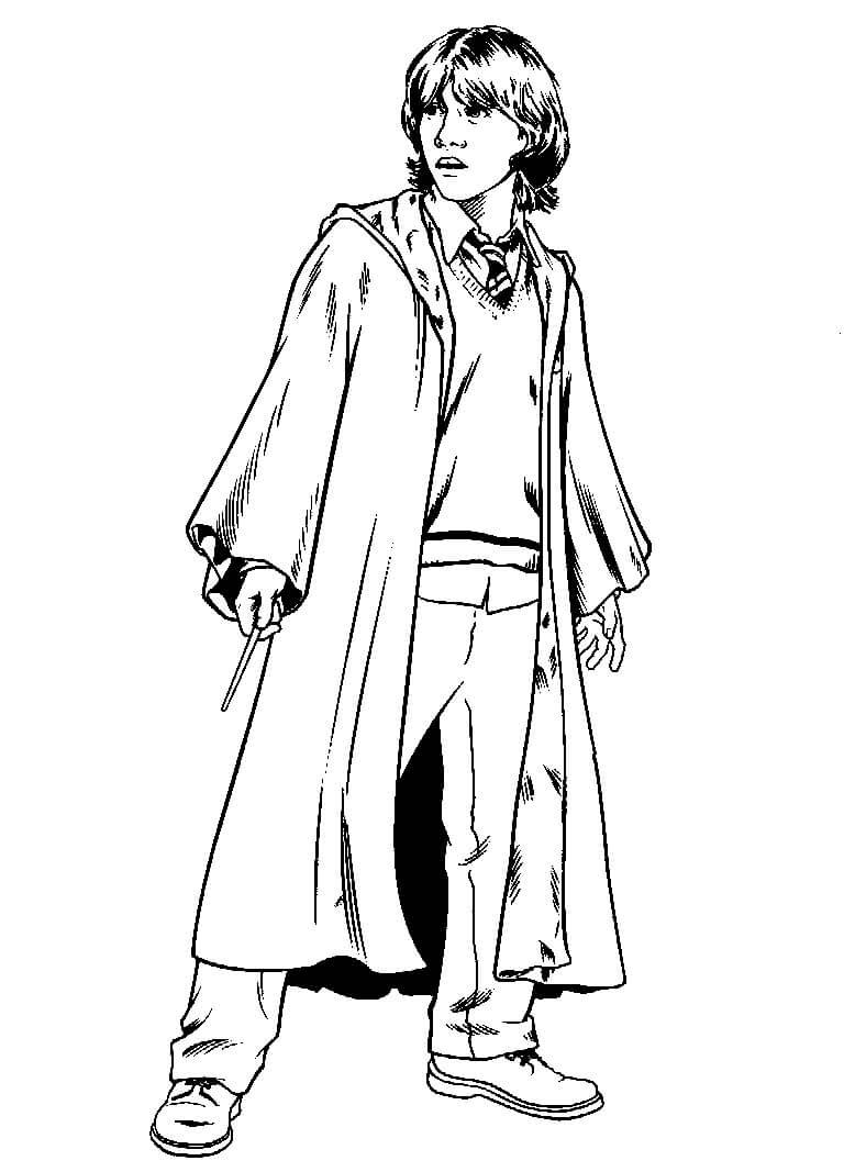 Desenhos de Ron Weasley para colorir