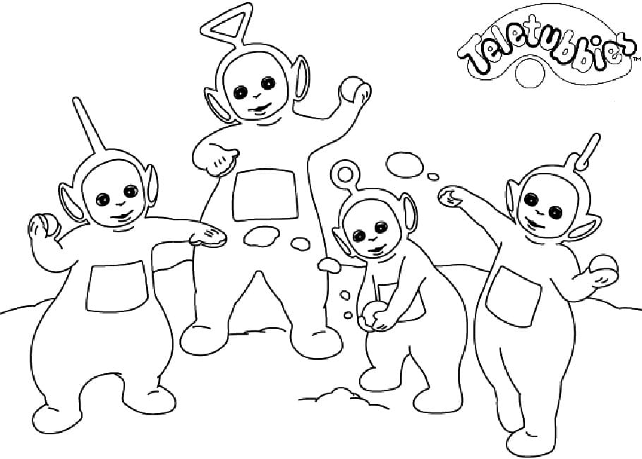 Desenhos de Teletubbies Engraçados 2 para colorir
