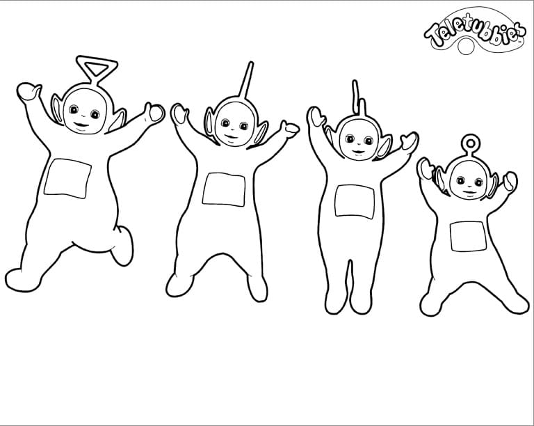 Desenhos de Teletubbies Engraçados 3 para colorir