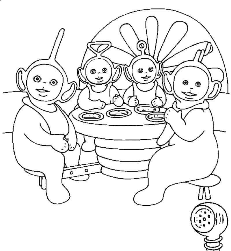 Desenhos de Teletubbies Engraçados 4 para colorir