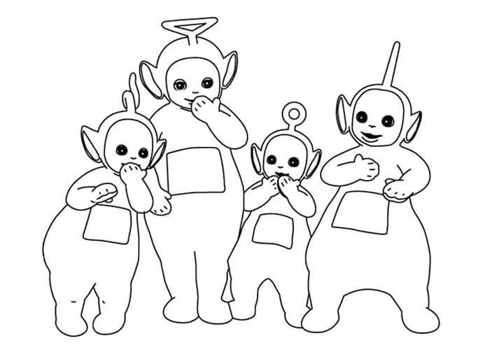 Desenhos de Teletubbies Engraçados 5 para colorir
