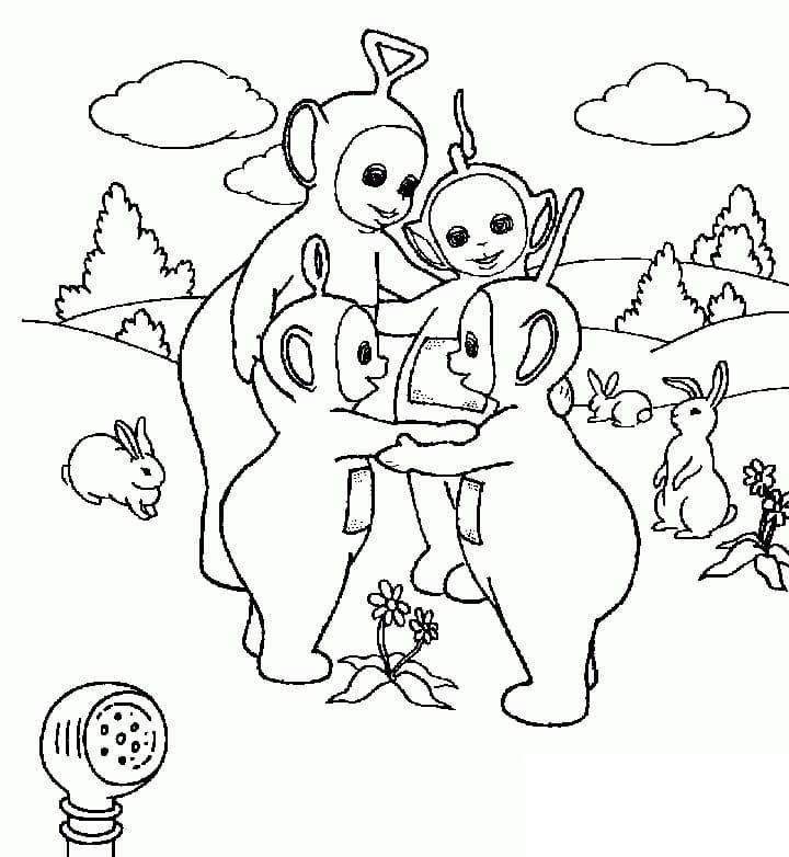 Desenhos de Teletubbies Engraçados para colorir