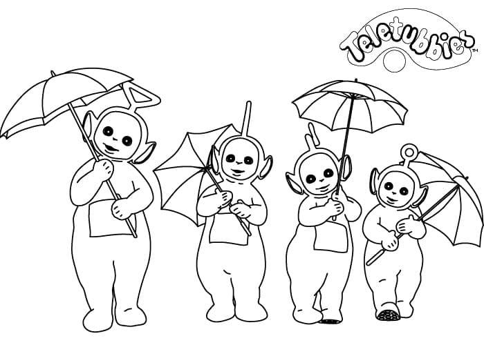 Desenhos de Teletubbies Fofos 1 para colorir