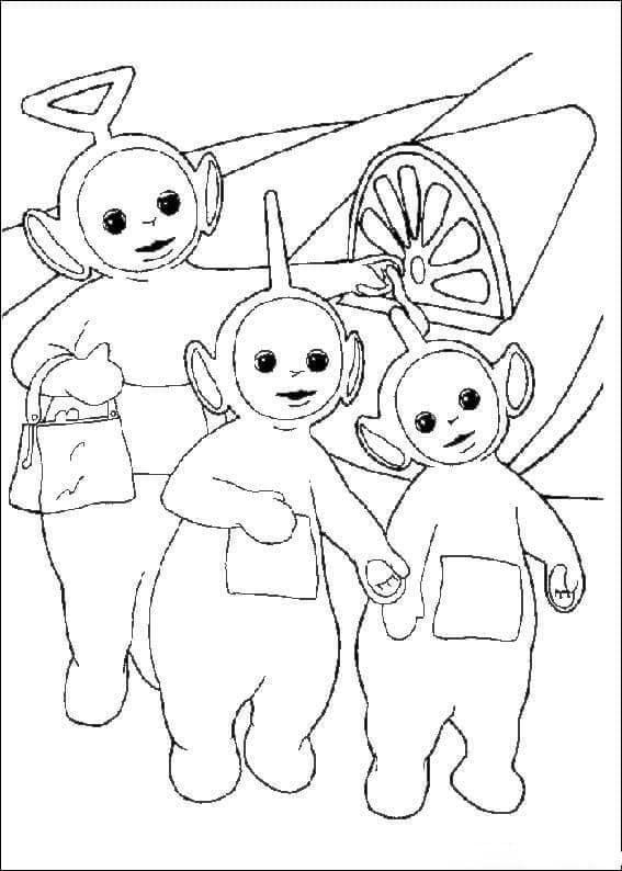 Desenhos de Teletubbies Fofos 3 para colorir