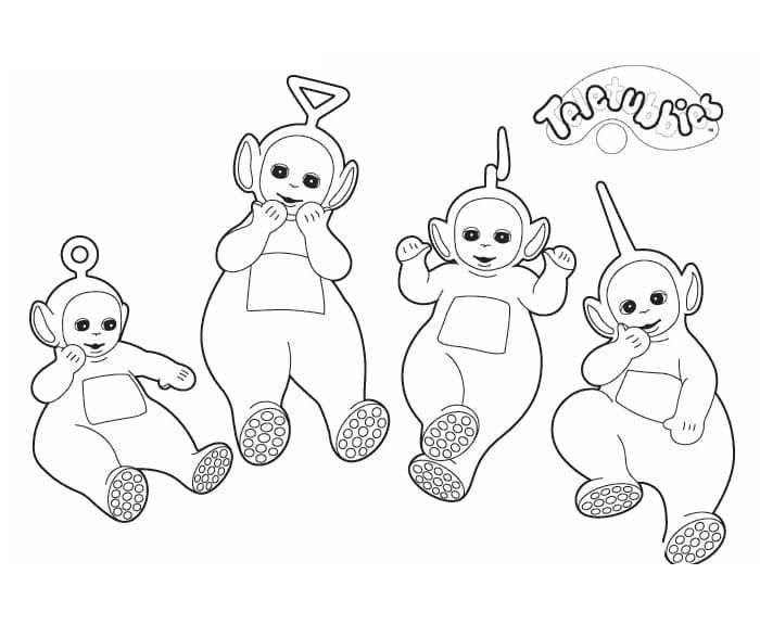 Desenhos de Teletubbies Fofos 4 para colorir