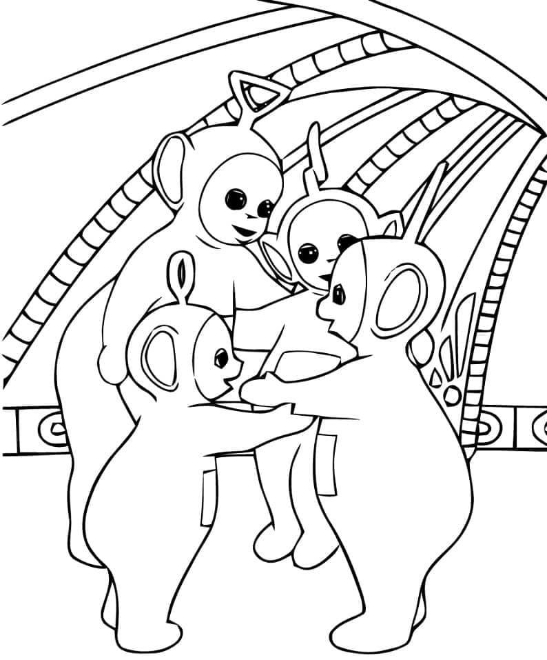 Desenhos de Teletubbies Fofos para colorir