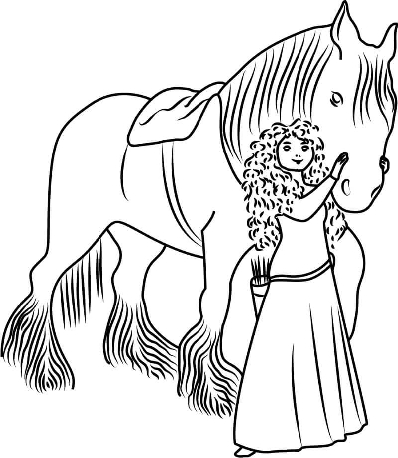 Desenhos de Angus Ile Merida para colorir