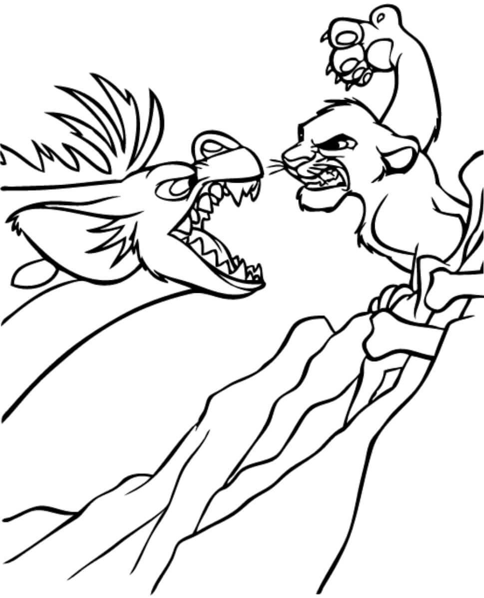 Desenhos de Banzai Vs Simba para colorir