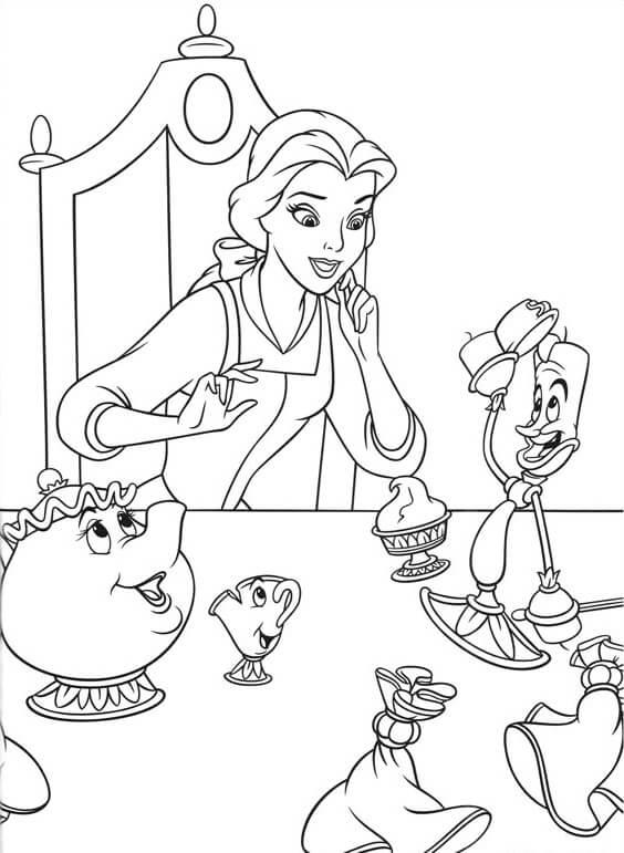 Desenhos de Com Belle Friends para colorir