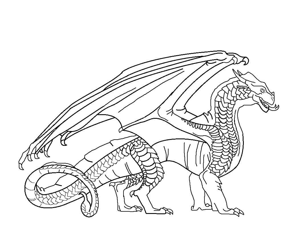 Desenhos de Dragão Mágico para colorir