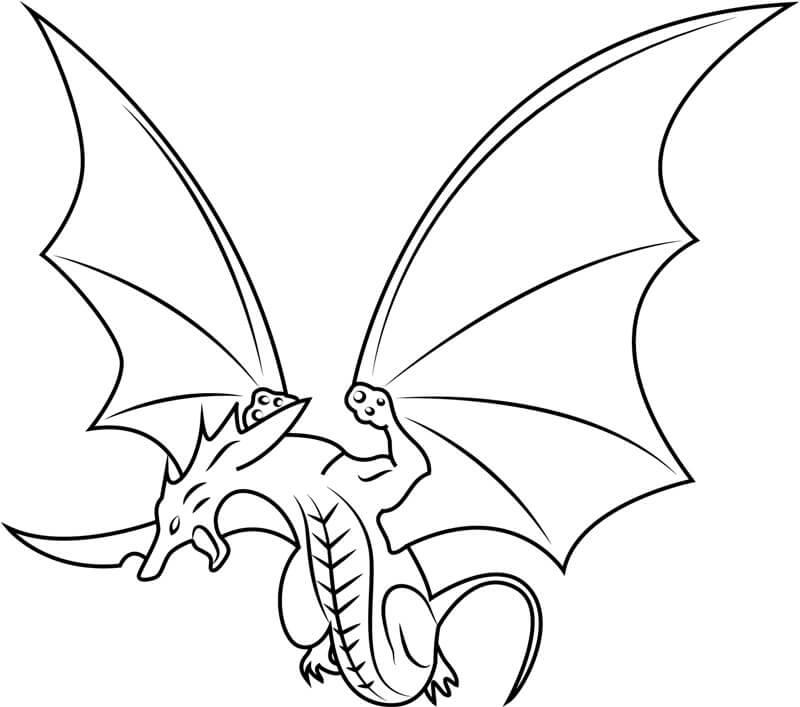 Desenhos de Dragão Em Bakugan para colorir