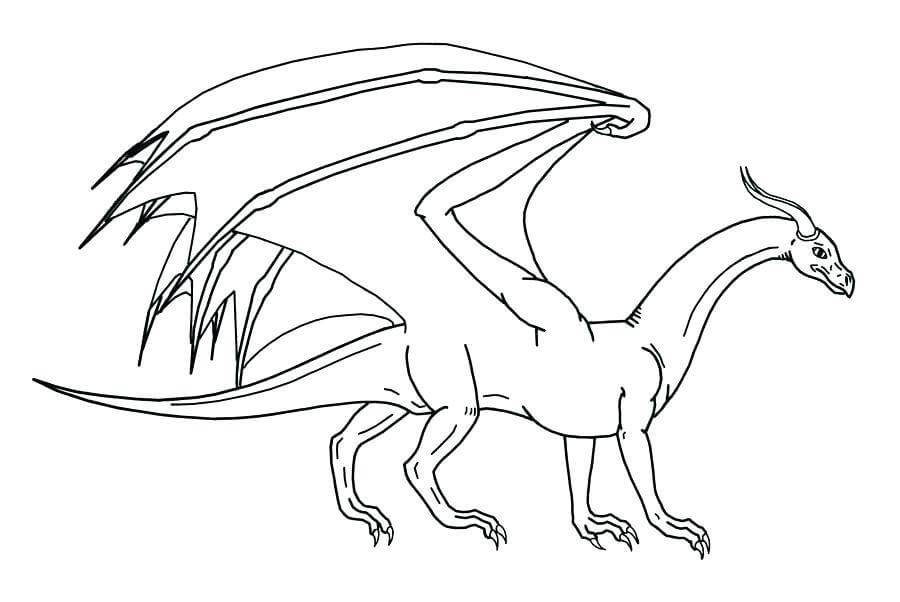 Desenhos de Dragão Lendario para colorir