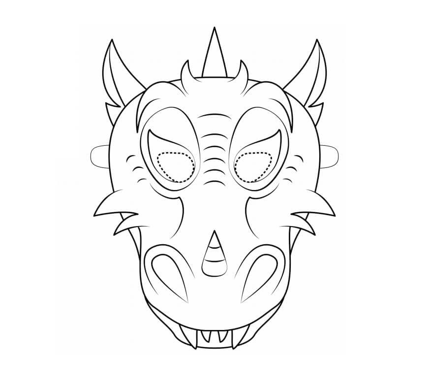 Desenhos de Máscara De Dragão para colorir
