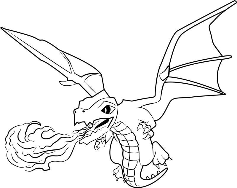 Desenhos de Dragon Spray Fire para colorir