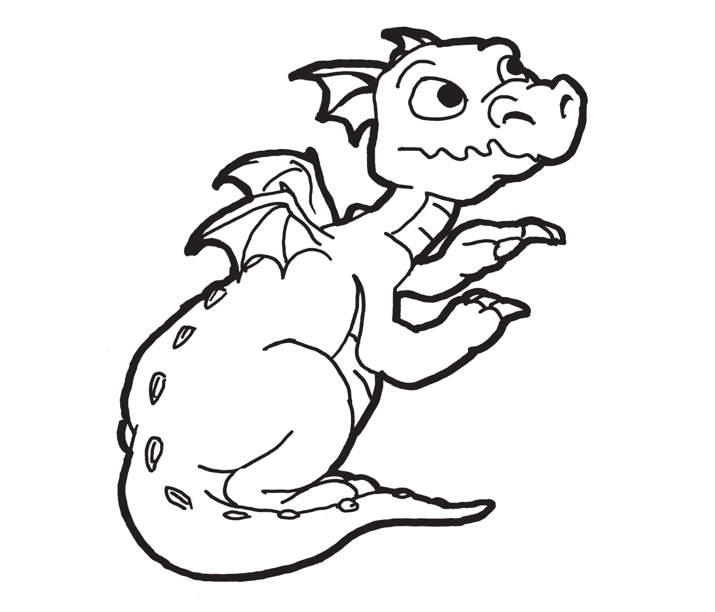 Desenhos de Dragão Impressionante para colorir
