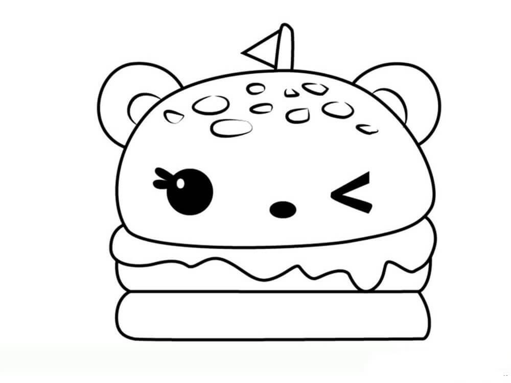 Desenhos de Hamburguesa Linda para colorir