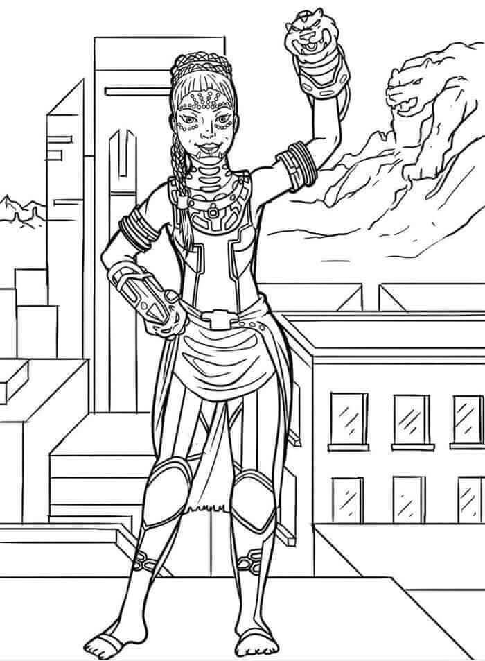 Desenhos de Hermana De Pantera Negra para colorir