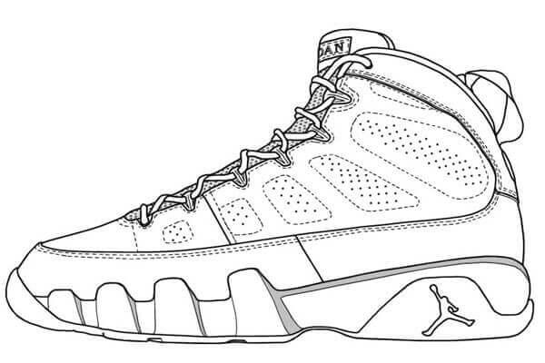 Desenhos de Jordan Ayakkabı para colorir
