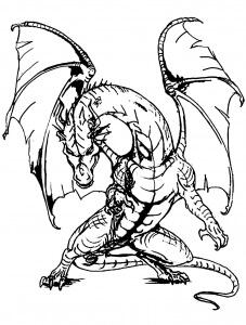 Desenhos de Dragão Incrível para colorir