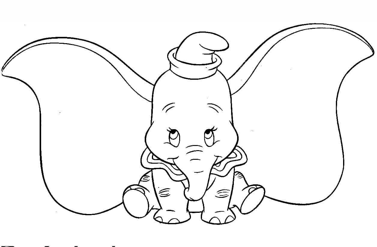 Desenhos de Precioso Dumbo para colorir