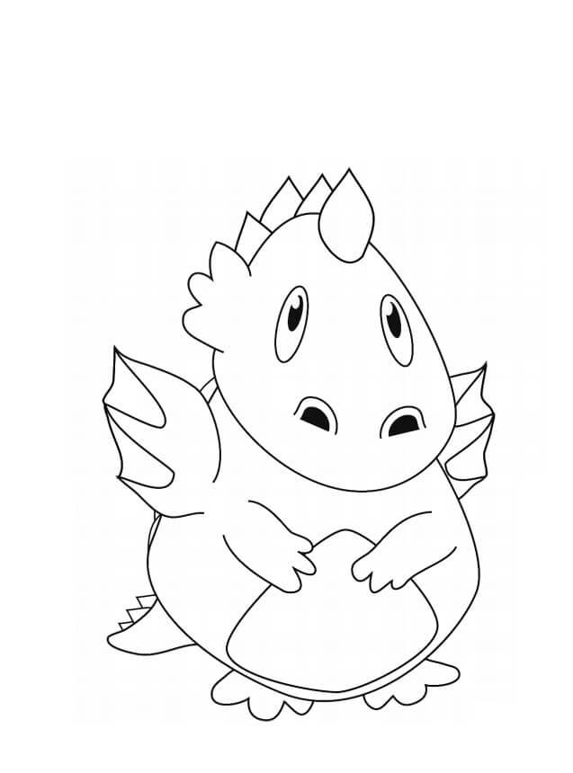 Desenhos de Dragão Bebê Fofo para colorir