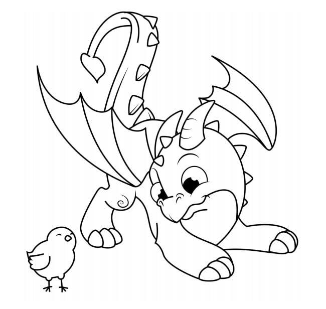Desenhos de Dragão De Galinha para colorir