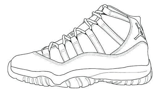 Desenhos de Air Jordan Draw para colorir