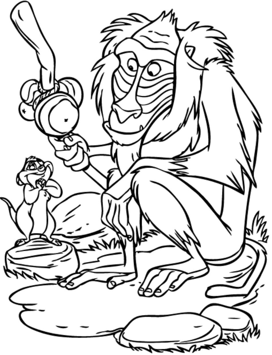 Desenhos de Amigo E Timon para colorir